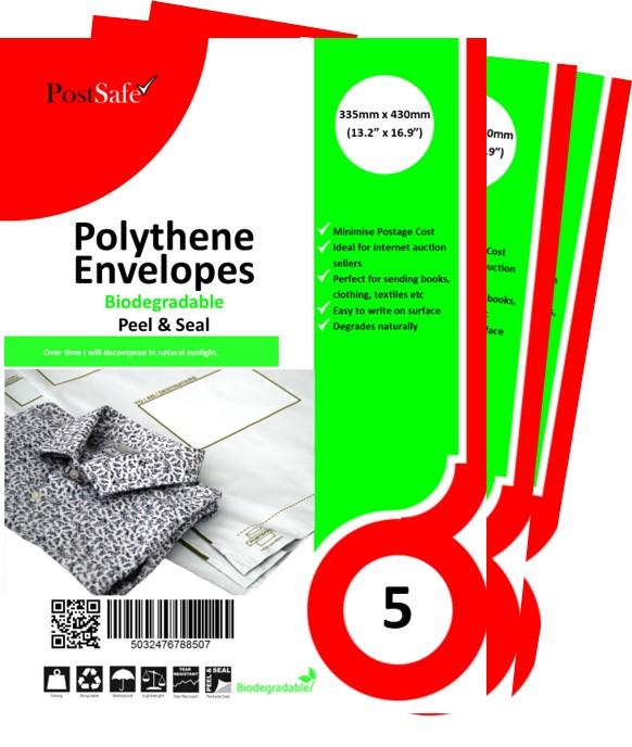 Biodegradable plastic envelope