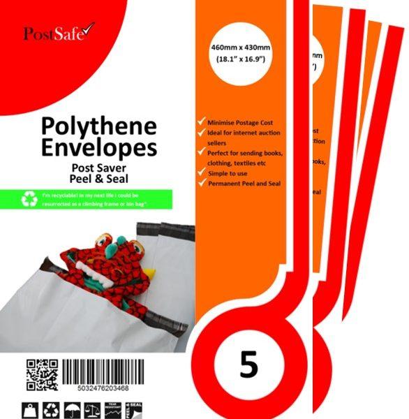 PostSafe Post Saver peel and seal plastic envelopes
